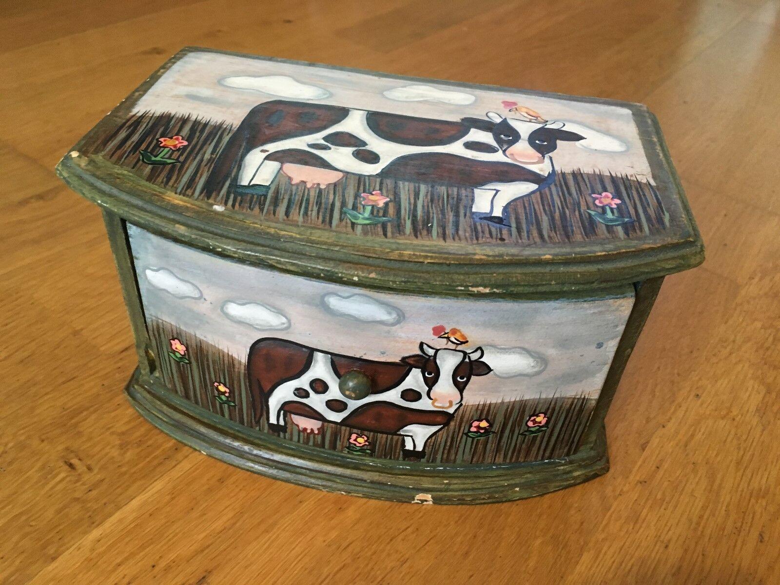 Dipingere Portagioie Di Legno : Scatola in legno dipinto disegno con foto foto foto della mucca