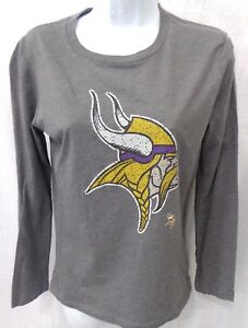 690fde28f La foto se está cargando Minnesota-Vikings-Futbol-Camiseta-De-camisa-de -mangas-