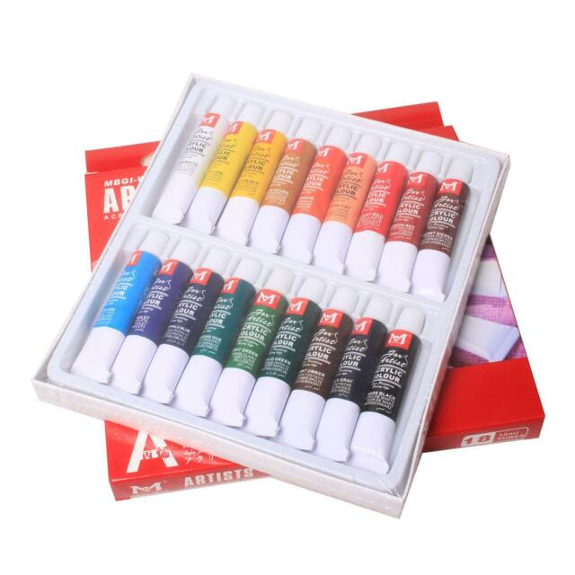 New 18 Color 12ml Paint Tube Draw Painting Acrylic Color Set