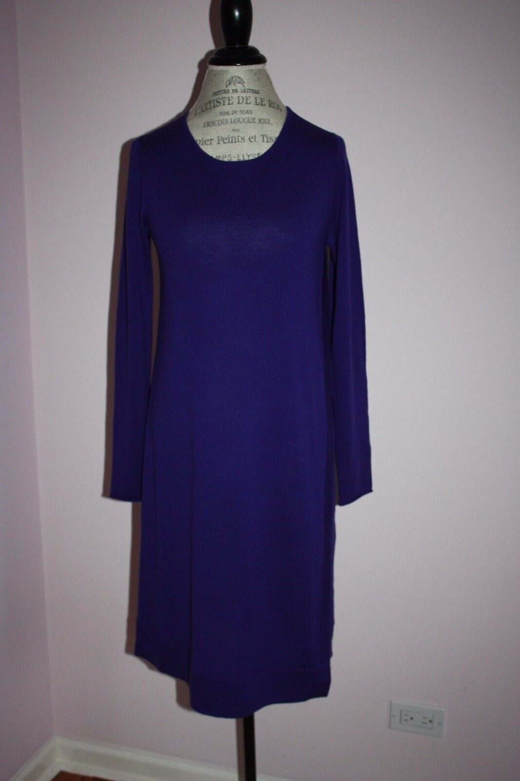 NWT Womens  Eileen Fisher Asymmetrical bluee Jewel Dress Size Small