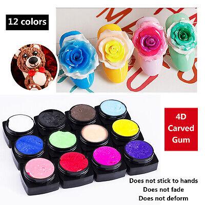 5g/Pot Nail Art 4D UV Gel Creative Sculpting Carving UV ...