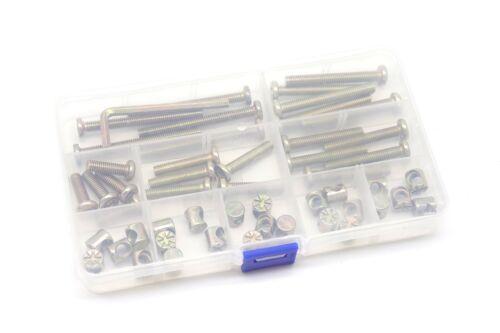 50Pcs Tornillos De Tapa Para M6 Kit De Reemplazo De Hardware Para Cuna De Bebe
