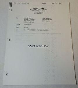 DAWSON-039-S-CREEK-set-used-paperwork-ORIGINAL-STORY-OUTLINE-Season-6-Episode-14