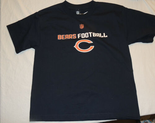 NEW Kids Chicago Bears Shirt Size Large 14-16 Football NFL T Shirt Navy Blue