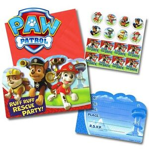 Image Is Loading Party Supplies Birthday Decorations Boys Paw Patrol Invitations