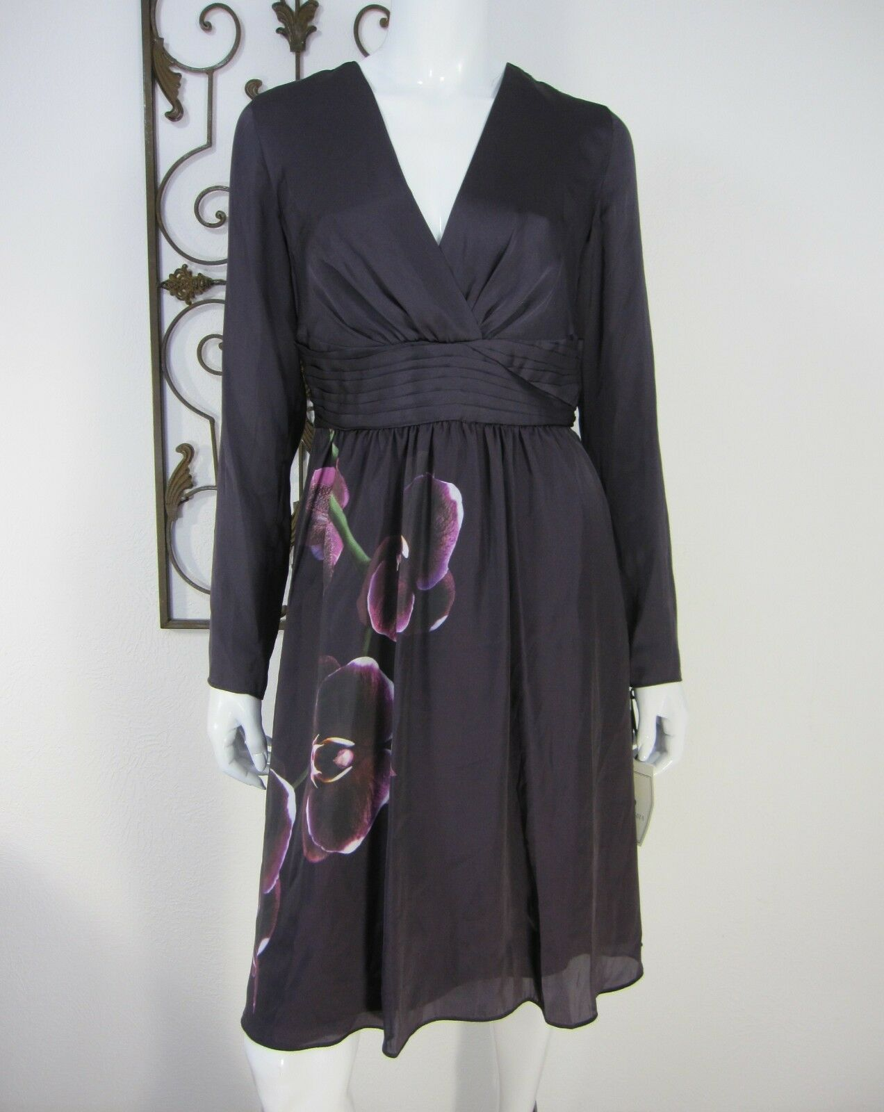 ALTUZARRA FOR TARGET NWT LONG SLEEVE DRESS SIZE 8 PURPLE FLORAL