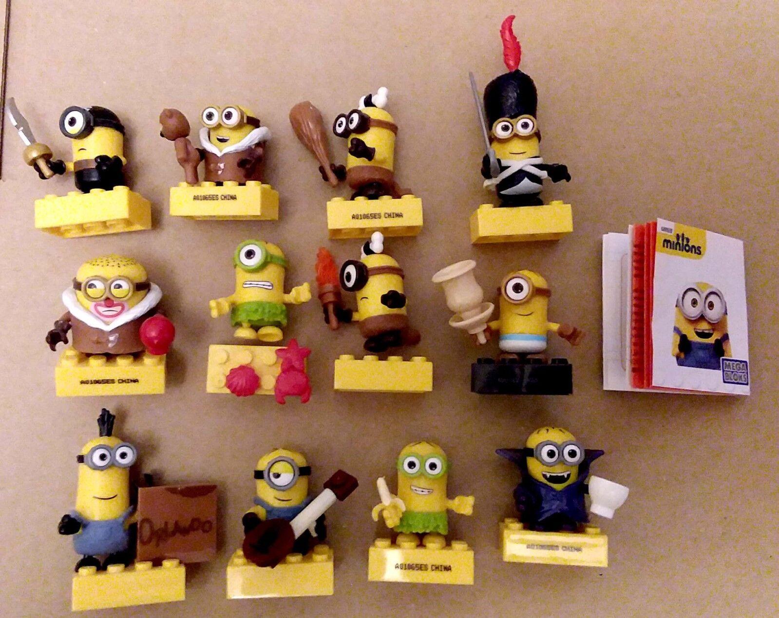 Mega Bloks Minions Mini figures series 3 complete set of 12 - inc Ultra Rares
