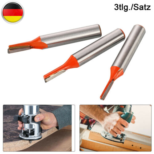 Nutfräser 3-tlg Set 3//4//5mm Schaft Ø 8 Mm Holzfräser Nutenfräser Fräser Nuter DE