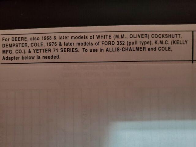 NEW Lustran John Deere Corn Planter Plates for Flat Seeds White Oliver Allis