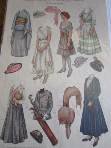1915 Sheila Young BETTY BONNET'S Paper Doll COLLEGE SISTER UNCUT