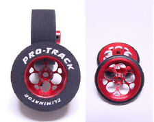 "Pro Track ""Magnum Red"" 1 1/16"" x .435"" Matching Rr & Ft Drag 1/24 Slot Car Tires"