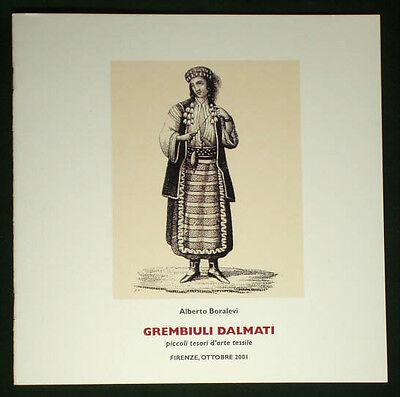 BOOK Croatian Folk Costume Dalmatian Apron fringe ethnic textile weaving Croatia