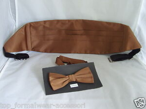 HOT PINK Mens Cummerbund and Bow Tie Set /<Free/> P/&P 2UK />1st Class-in 50 Colours