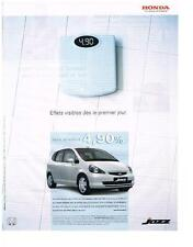 PUBLICITE ADVERTISING  2003  HONDA   JAZZ