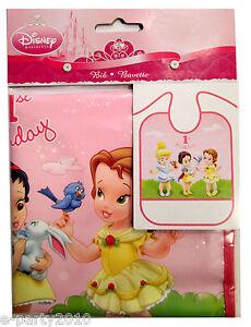 Image Is Loading DISNEY PRINCESS BABIES 1st BIRTHDAY BIB Party Supplies