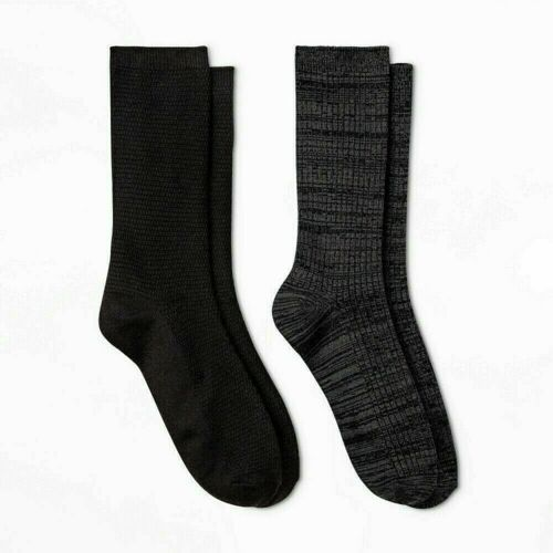 Warm Essentials by Cuddl Duds Lightweight Crew Socks 2 pair Career Casul 4-10