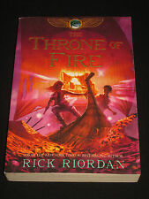 wmf* RICK RIORDAN ~ THE THRONE OF FIRE   Book Two of Kane Chronicles 2nd Copy tp