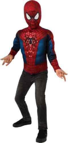 Spider-Man Fiber Optic Light Up Top /& Mask Fancy Dress Halloween Child Costume