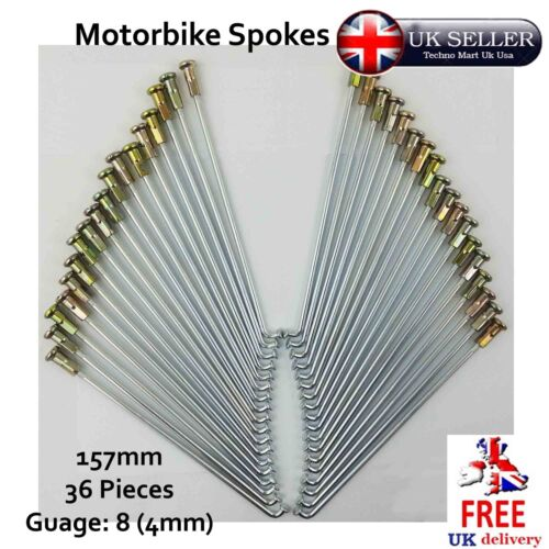 Motorbike Spokes 157mm Nipple Cap Gauge 8 SET Motorcycle Wheel 5pcs 36pcs