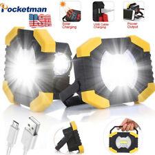 66000lm Solar Led Work Light Usb Rechargeable Spotlight Floodlight Camping Lamp