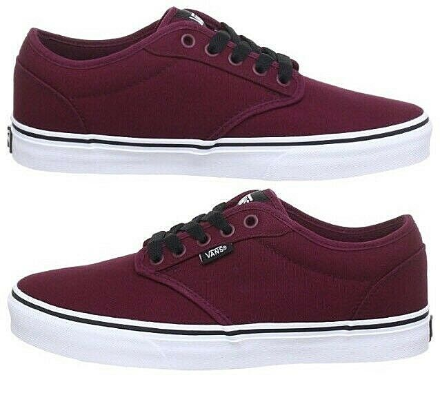 ed50c1657c668 New Atwood Canvas Pump Trainers Oxblood Size Vans Mens ncksaw415-Athletic  Shoes