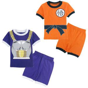 165fd988a47f Kids Boys Dragon Ball Z Pyjamas Vegeta Goku Toddler Short Pajamas ...