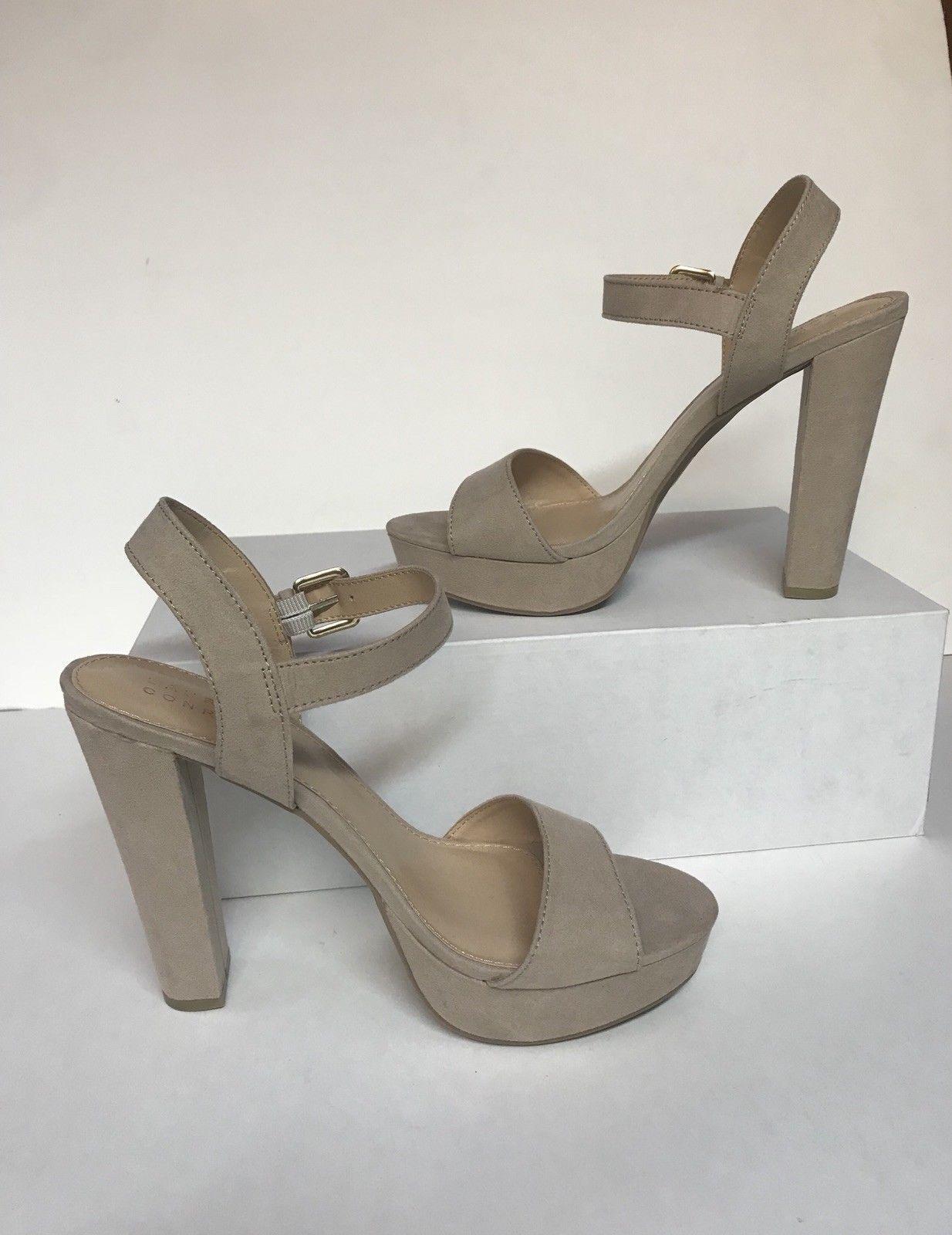 NEW Women's LC Lauren Conrad SIZE 8.5M Bow High Heel Sandals shoes Nude