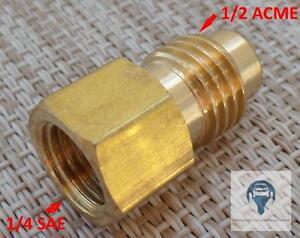 1x-Reduzierung-Adapter-Schnellkupplungen-1-2-ACME-M-x-1-4-SAE-F-mit-Gasket