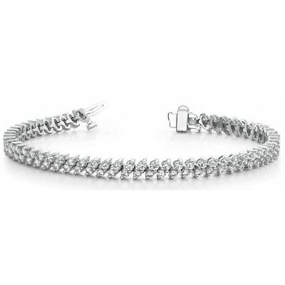 Diamantarmband, 4.00 Karat IF-SI1/D-H Brillanten, 585er Weißgold, 18cm bis 23cm!
