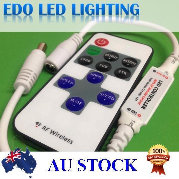 LED strip lights remote controller dimmer single color strip 3528 5050 Wireless