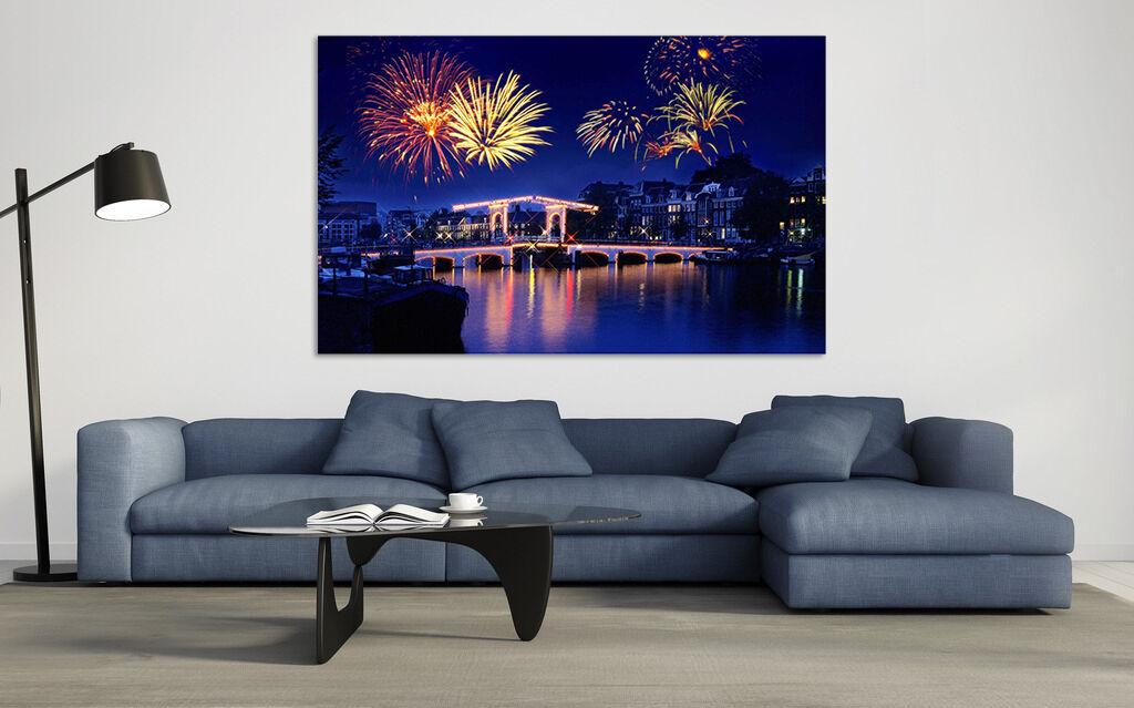 3D Feuerwerk und seen 624 Fototapeten Wandbild BildTapete AJSTORE DE Lemon