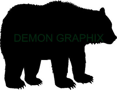 Grizzly Bear silhouette vinyl decal/sticker hunting hunter archery woods  outdoor | eBay