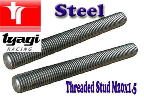 M20 X 1.5 STEEL THREADED STUD ROD BLACK BAR LENGTH 300MM 100MM