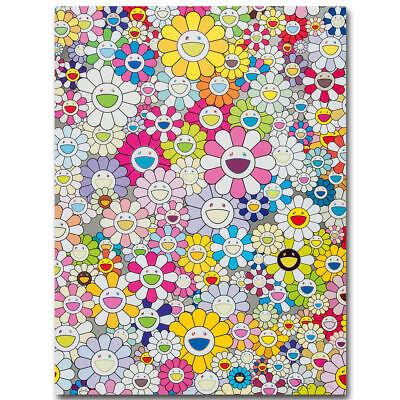 takashi MURAKAMI White flowers Art Silk Poster 12x18 24x36