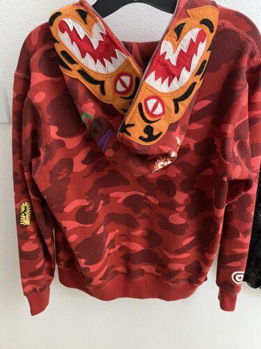 BAPE Tiger Hoodie - Red Camo