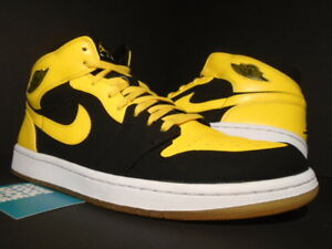 purchase cheap 407c6 47e06 Details about 2007 NIKE AIR JORDAN I RETRO 1 NEW LOVE BMP OG BLACK YELLOW  WHITE 136085-072 12