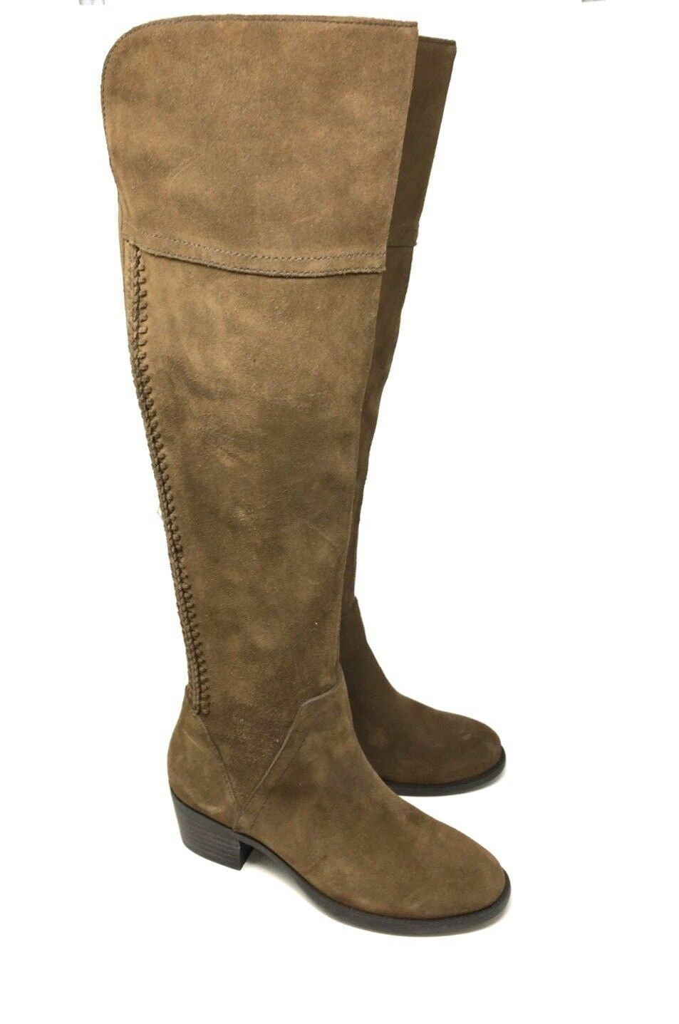 New Vince Camuto Bendra Leather Suede Over the Knee Marronee stivali Dimensione 5.5