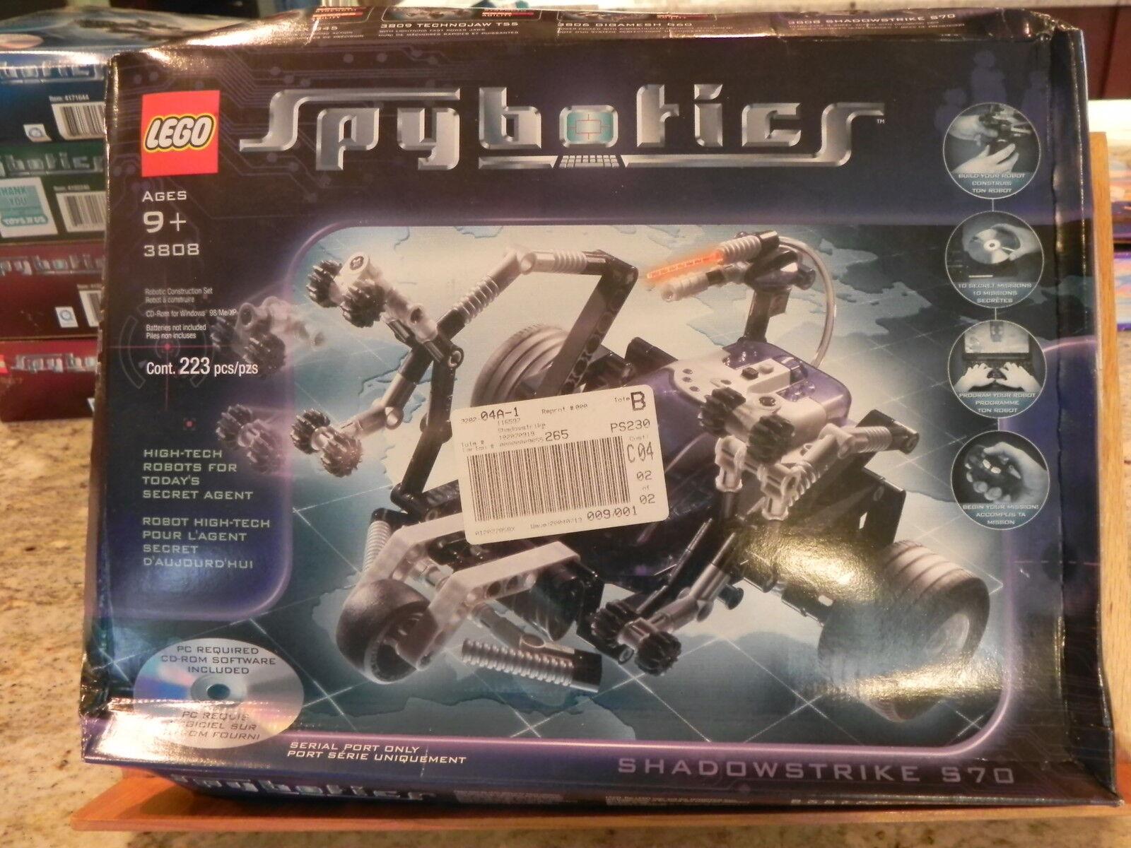 Lego Spybotics Spybotics Spybotics Shadowstrike S70 (3808), Rare New in Sealed Box b09dc3