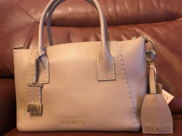 a6f804e93382 Ted baker Paige Large leather tote bag Mink MSRP  389 Matching Keychain Free