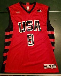 LeBron James USA Basketball Team Jersey Reebok #9, Size XL Red ...