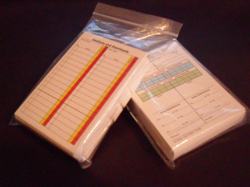 Referee Score Cards Sheets Christmas Present x 50