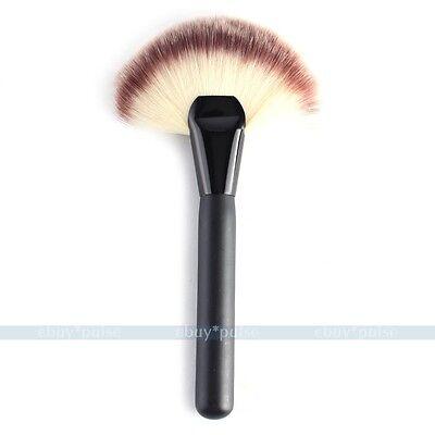 Practical Black Makeup Cosmetic Fiber Face Blush Powder Foundation Stipple Brush