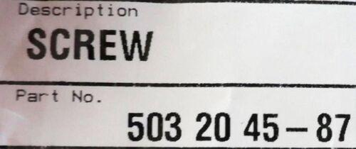 Genuine OEM 503204587 Chainsaw Muffler Bolt Screw Poulan Husqvarna  340 345 350