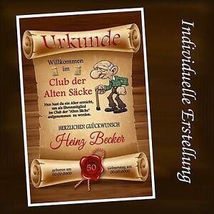 Urkunde-034-Club-der-alten-Saecke-034-18-20-30-40-50-60-70-Geburtstag-Deko-Geschenk-D2