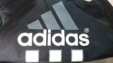 DE Vintage Adidas Duffle Bag Black white grey Gym Sports Multiple Compartments
