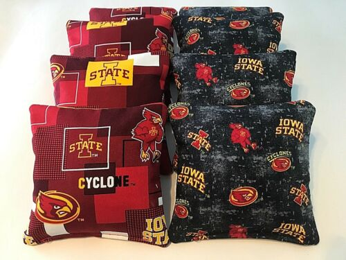 8 CORNHOLE IOWA STATE CYCLONES BEAN BAG TOSS CORN HOLE BLACK OUT ALL WEATHER