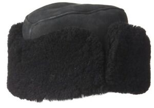 2f120b7719a CROWN CAP BLACK S 55 DOUBLE FACED SHEARLING AMBASSADOR Split suede ...