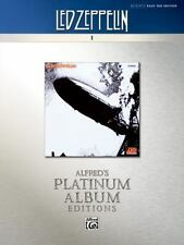 Led Zeppelin I Platinum Authentic Bass Tab Book