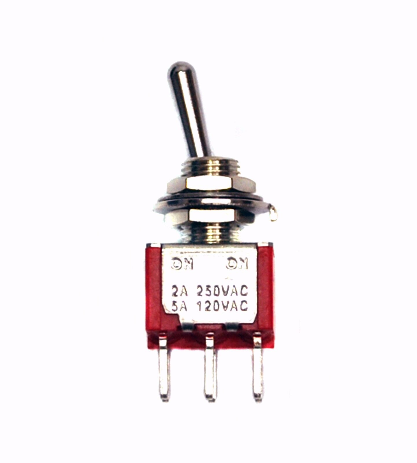 10pc Sub-Miniature Toggle Switch 2MS1T1B1M2QES On//On 3P SPDT 1A250V 3A120V PCB