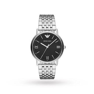Emporio Armani Three-Hand Stainless Steel Men's Watch